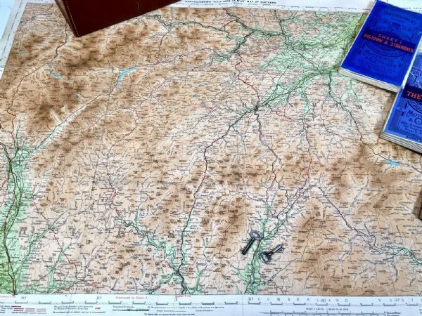 "Antique John Bartholomew's ""Half Inch to the Mile Maps"" of England & Scotland"